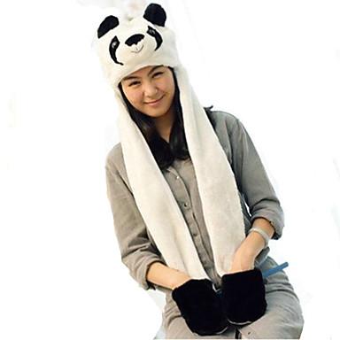 Kigurumi Pijamale Panda Pălărie Festival/Sărbătoare Sleepwear Pentru Animale Halloween Alb negru Peteci Blană Artificială Pălării/Căciuli