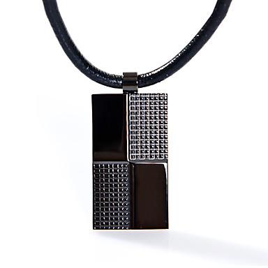 moda męska kwadratowa ze stali nierdzewnej 316L naszyjnik biżuteria