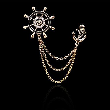 Férfi Női Melltűk Divat jelmez ékszerek Crown Shape Horgony Ékszerek Kompatibilitás Napi Hétköznapi