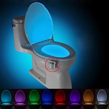 brelong mozgás aktivált WC éjjeli led WC fény fürdőszoba mosdók