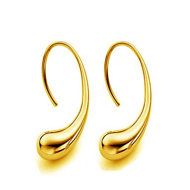 Damskie Kolczyki na sztyft Biżuteria Złoty Kropla Biżuteria Gold Silver Ślub Impreza Codzienny Casual Sport Biżuteria kostiumowa