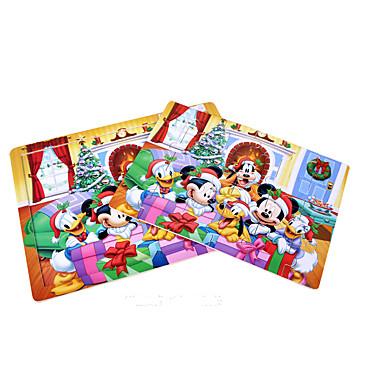 Puzzle Cegiełki DIY Zabawki 24 Drewno Tęczowy