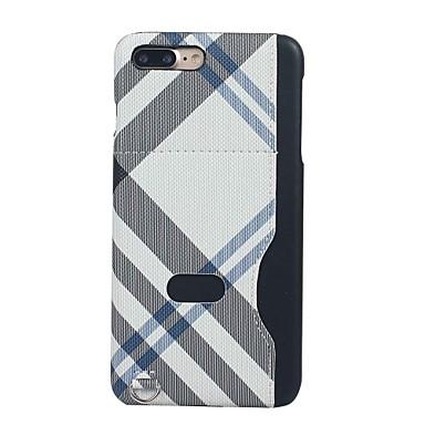Etui Käyttötarkoitus Apple iPhone 6 iPhone 7 Plus iPhone 7 Korttikotelo Ultraohut Kuvio Takakuori Geometrinen printti Kova tekstiili