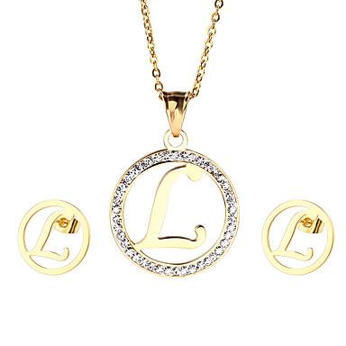Γυναικεία Σετ Κοσμημάτων Στρας αρχική Κοσμήματα 1 Κολιέ 1 Ζευγάρι σκουλαρίκια Για Πάρτι Καθημερινά Causal Δώρα Γάμου
