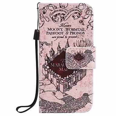 kastély festmény pu telefon tok alma itouch 5 6 ipod tok / borító