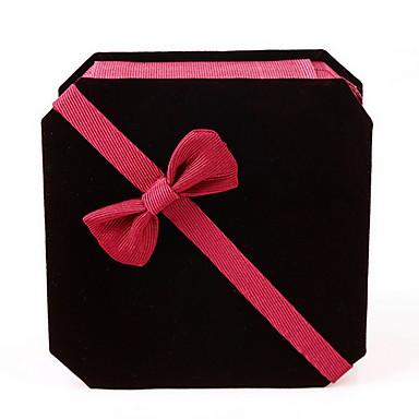 Takı Kutusu Kumaş Kağıt Siyah