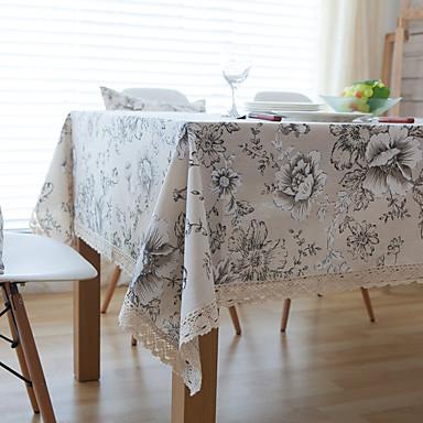 Neliö Toile Table Cloths , Linen materiaali Hotel ruokapöytä Taulukko Dceoration