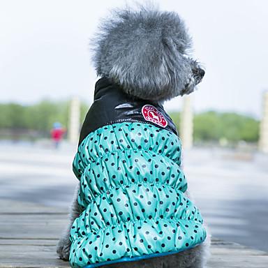 Σκύλος Παλτά Veste Ρούχα για σκύλους Διπλής Όψης Διατηρείτε Ζεστό Πουά Κίτρινο Κόκκινο Πράσινο
