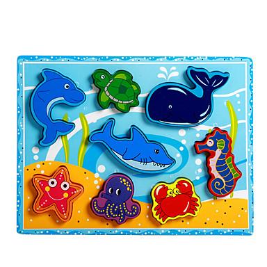 Εκπαιδευτικό παιχνίδι Παζλ Παιχνίδια Dolphin Ψάρια Χταπόδι Κροκοδιλέ Νεωτερισμός Αγορίστικα Κοριτσίστικα 8 Κομμάτια