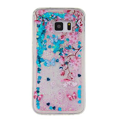 Etui Käyttötarkoitus Samsung Galaxy S7 edge S7 Virtaava neste Kuvio Takakuori Kukka Pehmeä TPU varten S7 edge S7 S6 edge S6 S5