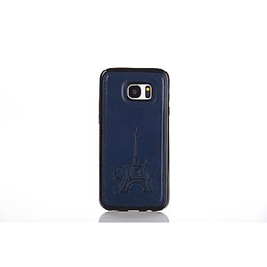 Etui Käyttötarkoitus Samsung Galaxy S7 edge S7 Koristeltu Takakuori Eiffel-torni Pehmeä PU-nahka varten S7 edge S7 S6 edge S6