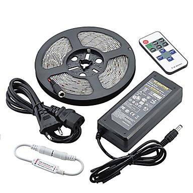 ZDM® 5m Işık Setleri 300LED LED'ler 5050 SMD / 5630 SMD 1 12V 6A Adaptör / 1 11Keys Uzaktan Kumanda / 1 DC Kablo Sıcak Beyaz / Beyaz / Kırmızı Su Geçirmez / Dekorotif 12 V 1set / IP65