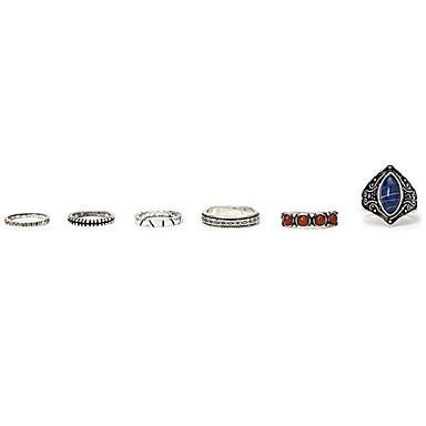 Pierścionki Non Kamień Impreza / Codzienny / Casual Biżuteria Stop Damskie Pierscionek / Pierścionki na palec środkowy / Obrączki 1set,7