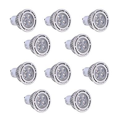 GU10 LED szpotlámpák T 4 led SMD 3030 Dekoratív Meleg fehér Hideg fehér 300-400lm 2800-3200/6000-6500