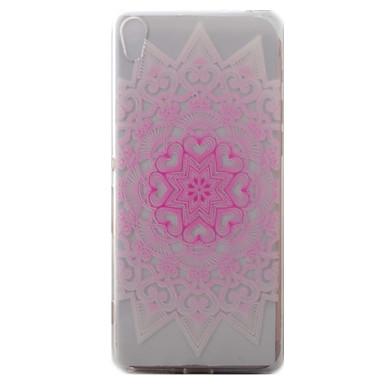 Για το sony xperia xa περίπτωση κάλυψης ροζ πλήρες μοτίβο λουλουδιών ζωγραφισμένα tpu υπόθεση τηλέφωνο τηλέφωνο