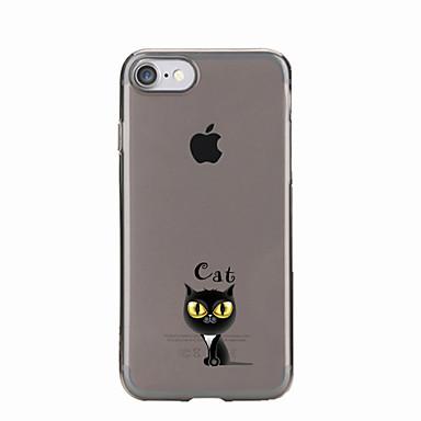 Pouzdro Uyumluluk Apple iPhone 5 Kılıf iPhone 6 iPhone 7 Şeffaf Temalı Arka Kapak Kedi Yumuşak TPU için iPhone 7 Plus iPhone 7 iPhone 6s