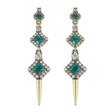 Σκουλαρίκι Στρας Κρεμαστά Σκουλαρίκια Κοσμήματα Γυναικεία Γάμου / Πάρτι / Καθημερινά / Causal Κράμα 1 ζευγάρι Πράσινο