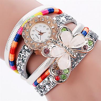 Xu™ Damskie Zegarek na nadgarstek Modny Kwarcowy PU Pasmo Vintage Na co dzień Muchy Czarny Biały Niebieski Czerwony Różowy Ivory
