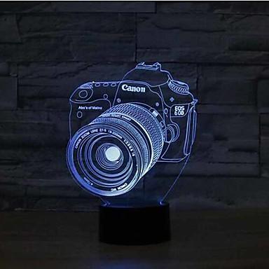 1 szt. 3D Nightlight Sensor Przysłonięcia Wodoodporne Zmieniająca Kolor LED Modern / Contemporary