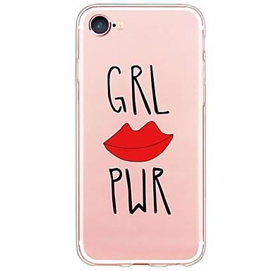إلى نحيف جداً / شبه شفّاف غطاء غطاء خلفي غطاء جملة / كلمة ناعم TPU إلى Appleفون 7 زائد / فون 7 / iPhone 6s Plus/6 Plus / iPhone 6s/6 /