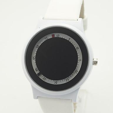 Męskie Zegarek na nadgarstek Unikalne Kreatywne Watch Kwarcowy PU Pasmo Nowoczesne Na co dzień Czarny Biały
