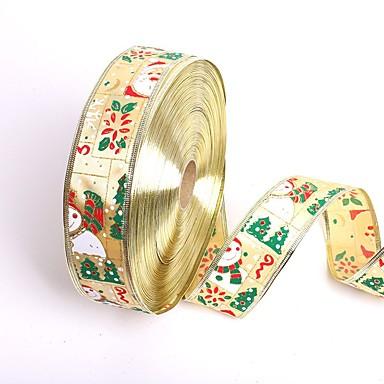 Nowe 5cm * 200cm słodkie bałwana Święty Mikołaj Boże Narodzenie wstążki prezent opakowanie wstążki choinki DIY festiwal strona dekoracji