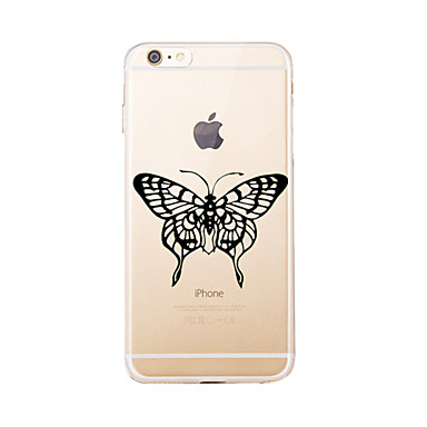 Na Wzór Kılıf Etui na tył Kılıf Motyl Miękkie TPU na Apple iPhone 7 Plus / iPhone 7 / iPhone 6s Plus/6 Plus / iPhone 6s/6 / iPhone SE/5s/5