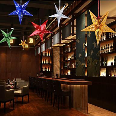 오각형 별은 창 크리스마스 휴가 장식 색상 랜덤 30cm의 역할을 역할을 중지