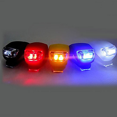 LED Bike Light Front Bike Light Rear Bike Tail Light Silicone Bike Light Cycling Clip Small Size Pocket Cell Batteries Battery Cycling / Bike Multifunction / IPX-4