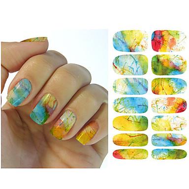 1PCS Sanat Sticker Nail Su Transferi Çıkartmaları Makyaj Kozmetik Sanat Tasarım Nail