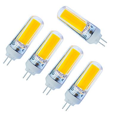 5pcs 270lm LED Bi-Pin lamput 1 LED-helmet COB Himmennettävissä Lämmin valkoinen Kylmä valkoinen 220V 85-265V