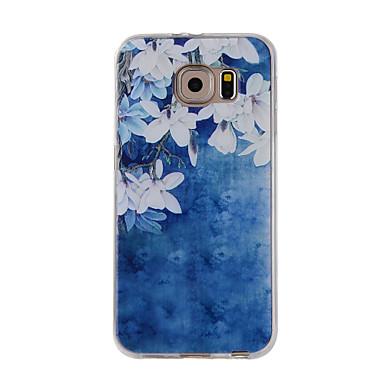 Etui Käyttötarkoitus Samsung Galaxy S7 edge S7 Kuvio Takakuori Kukka Pehmeä TPU varten S7 edge S7 S6 edge S6 S5 S4