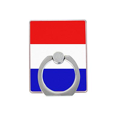 holland flag pattern plastik halka tutacağı / 360 cep telefonu için dönen iphone 8 7 samsung galaxy s8 s7