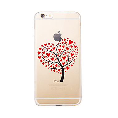 Pouzdro Uyumluluk Apple iPhone 5 Kılıf iPhone 6 iPhone 7 Yarı Saydam Temalı Arka Kapak ağaç Yumuşak TPU için iPhone 7 Plus iPhone 7