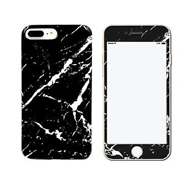 Kompatibilitás iPhone 7 tok iPhone 7 Plus tok iPhone 6 tok tokok IMD Hátlap Case Márvány Puha Hőre lágyuló poliuretán mert Apple iPhone 7