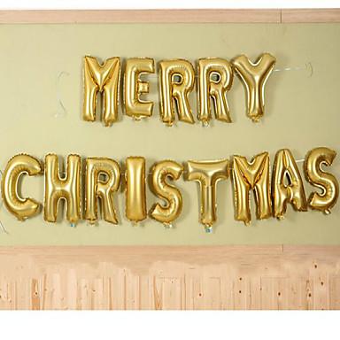 크리스마스 이브에 풍선 장식 배열 알루미늄 필름