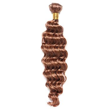 Emberi haj Indiai haj Precolored Hair sző Göndör Póthajak 1 darab közepes Auburn