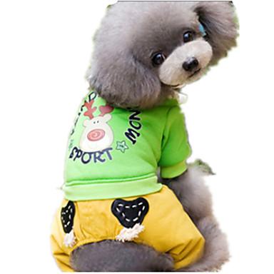 Köpek Tulumlar Köpek Giyimi Sevimli Karton Sarı Yeşil