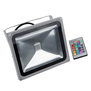 LED Προβολείς Τηλεκατευθυνόμενος Ρυθμιζόμενο Εύκολη Εγκατάσταση Αδιάβροχη Εξωτερικός Φωτισμός Γκαράζ RGB 85-265V
