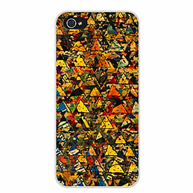 Pouzdro Uyumluluk Apple iPhone 5 Kılıf iPhone 6 iPhone 7 Temalı Arka Kapak Geometrik Desenli Yumuşak TPU için iPhone 7 Plus iPhone 7