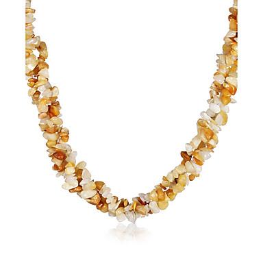Κολιέ Κολιέ Τσόκερ Κοσμήματα Πάρτι / Καθημερινά / Causal Πεπαλαιωμένο / Βοημία Style Κρύσταλλο / Αχάτης Γυναικεία 1pc Δώρο Καφέ