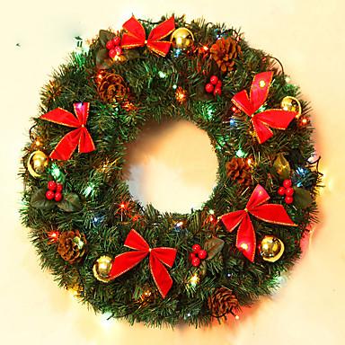 홈 파티 직경 40cm를위한 크리스마스 화 환 소나무 바늘 크리스마스 장식 새 해 공급 NAVIDAD