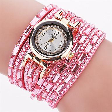 Xu™ Damskie Modny Zegarek na bransoletce Kwarcowy PU Pasmo Postarzane Na co dzieńCzarny Biały Czerwony Brązowy Zielnony Różowy Granatowy