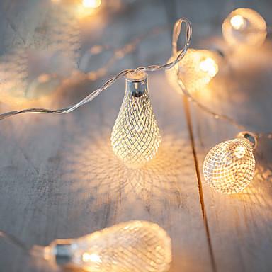 2m aa pracy baterii led string led metalowy ściemniacz światła światła navidad luci nataleguirlande exterieur