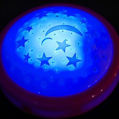 πολύχρωμα φώτα τα αστέρια και το φεγγάρι φως της προβολής λάμπα ύπνο του μωρού τη νύχτα λάμπα τυχαίο χρώμα
