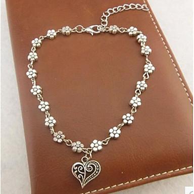 Kadın Ayak bileziği/Bilezikler alaşım Aşk Klasik Elyapımı Heart Shape Mücevher Uyumluluk Düğün Parti