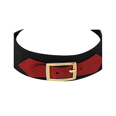 Κολιέ Κολιέ Τσόκερ Κοσμήματα Causal Βασικό Δερμάτινο Γυναικεία 1pc Δώρο Κόκκινο / Γκρίζο