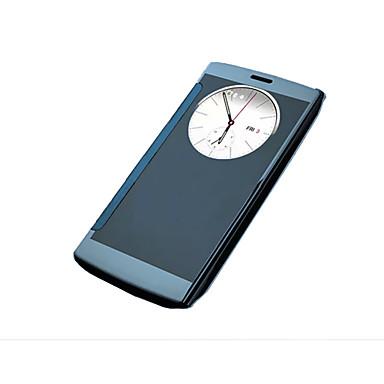 hoesje Voor LG LG G4 LG hoesje met venster Beplating Volledig hoesje Effen Kleur Hard Acryl voor