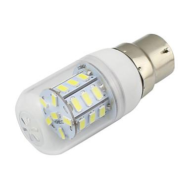 4W B22 Becuri LED Corn T 27 SMD 5730 280 lm Alb Cald Alb Rece Decorativ V 1 bc