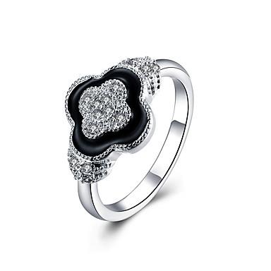Bărbați Dame Verighete Inele Afirmatoare Zirconiu Cubic bijuterii de lux Pietre sintetice Plastic Zirconiu Diamante Artificiale Bijuterii
